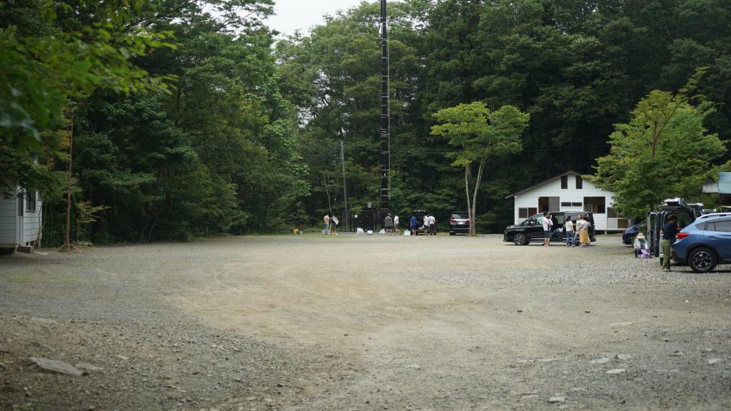 キャンプサイトのスペース