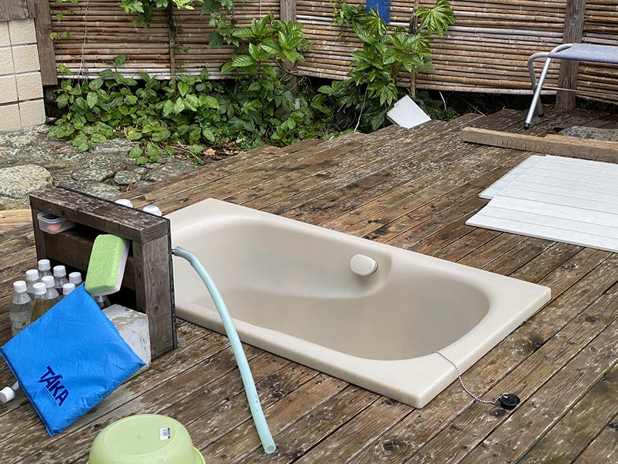 備え付けの露天風呂