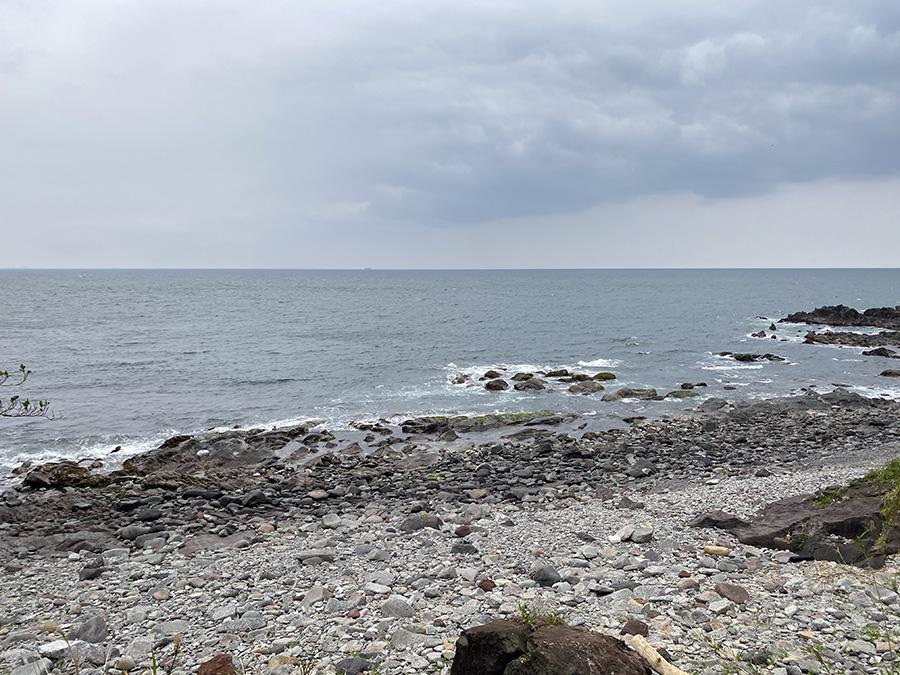 目の前に広がる海